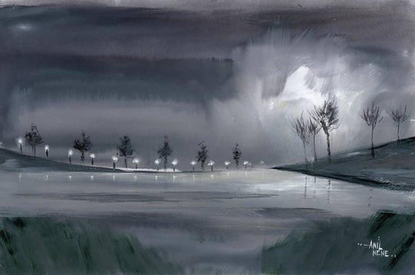 Painting - Night Walk 2 by Anil Nene