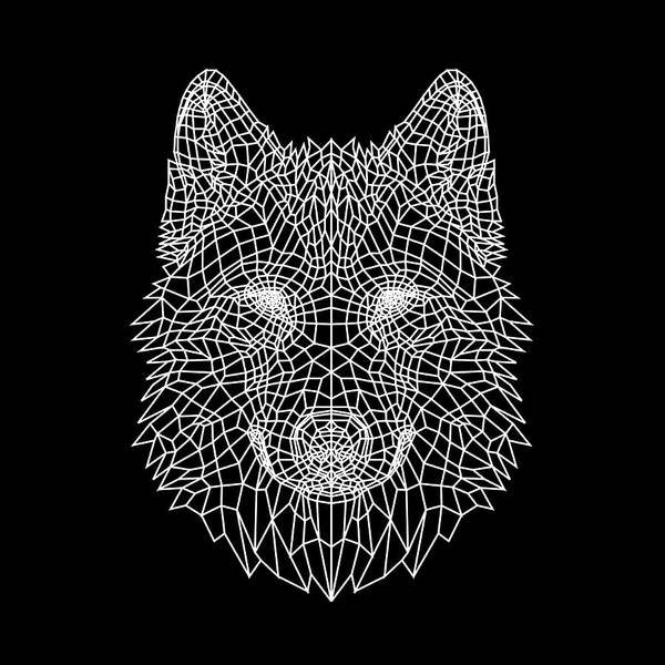 Wall Art - Digital Art - Night Wolf by Naxart Studio