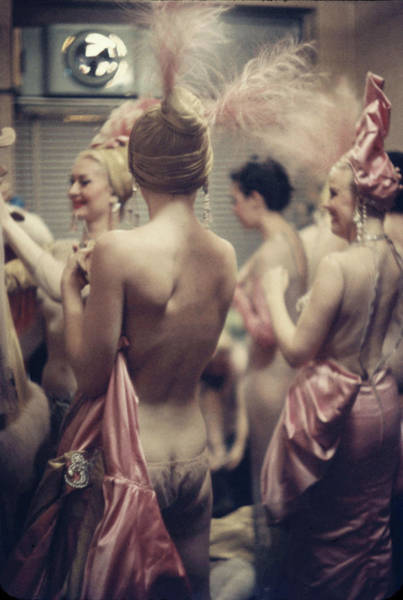 Dancing Photograph - Nightclub Showgirls by Gordon Parks