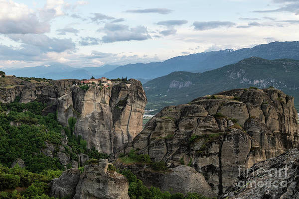 Photograph - Nightfall Over Meteora In Greece by Didier Marti