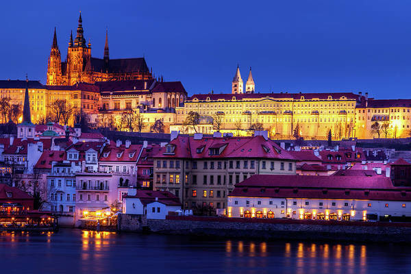 Wall Art - Photograph - Nightfall Over Prague by Andrew Soundarajan
