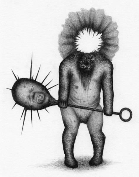 Drawing - Nightmare Rattler - Artwork by Ryan Nieves