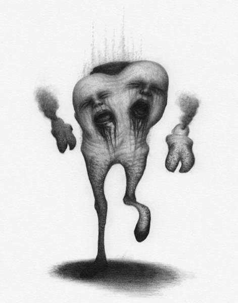 Drawing - Nightmare Strider - Artwork by Ryan Nieves