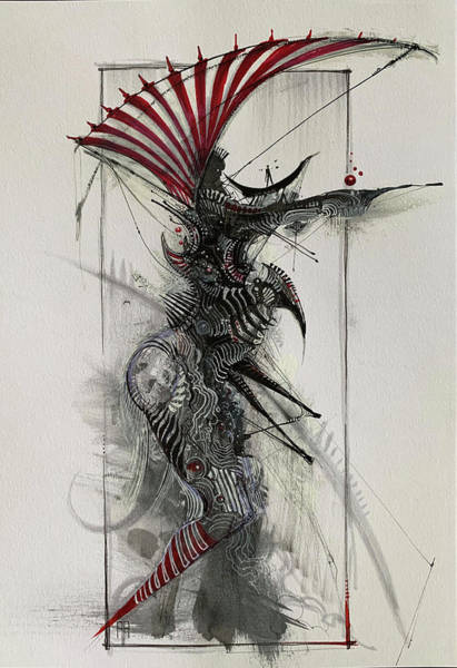 Wall Art - Drawing - Nightmares And Candy Canes by Alex Ruiz