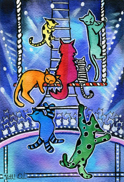Painting - Nights At The Circus by Dora Hathazi Mendes
