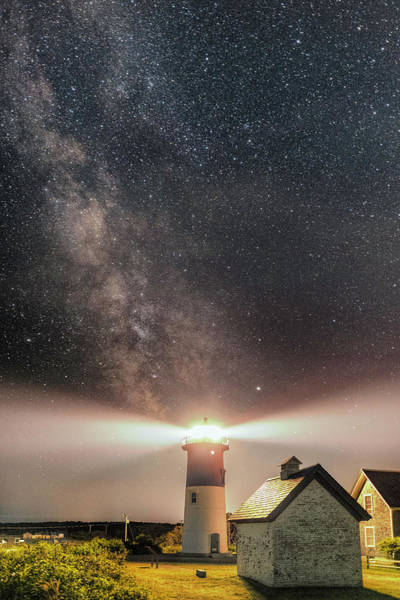 Photograph - Nightscape Over Nauset Light by Thomas Gaitley