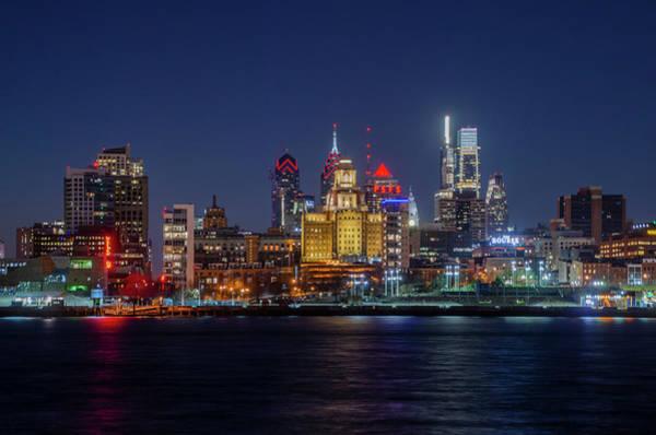 Wall Art - Photograph - Nightscape Philadelphia by Bill Cannon