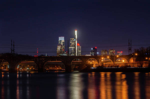 Photograph - Nightscape - Philadelphia From The Schuylkill River by Bill Cannon