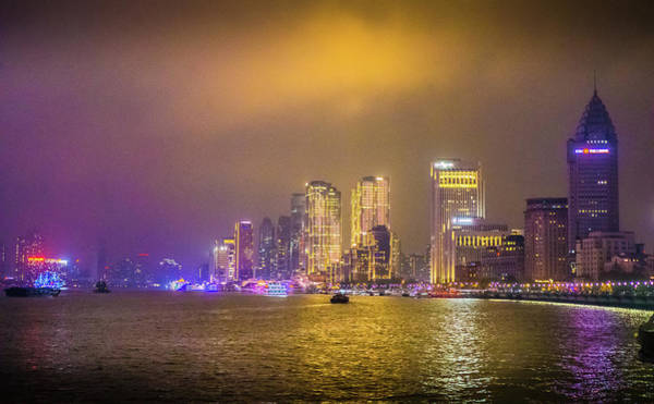 Photograph - Nighttime In Shanghai by Gary Gillette