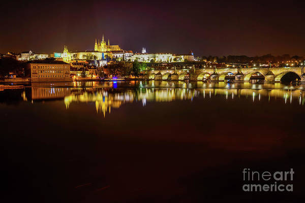 Wall Art - Photograph - Nighttime Reflections In Prague by DAC Photo