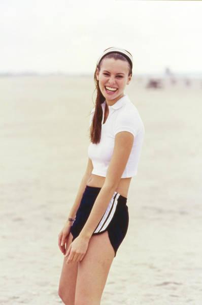 Photograph - Niki Taylor In Adidas Shorts On The Beach by Arthur Elgort