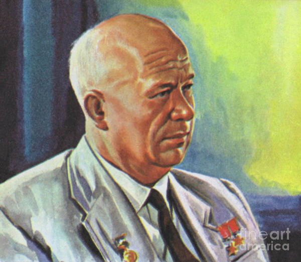 Wall Art - Painting - Nikita Khrushchev  by Angus McBride