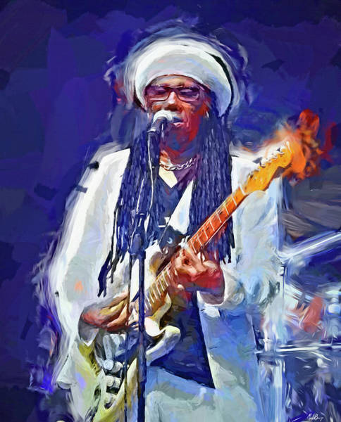 Wall Art - Mixed Media - Nile Rodgers by Mal Bray