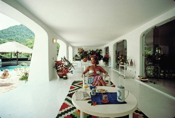 Content Photograph - Nina Brusell by Slim Aarons