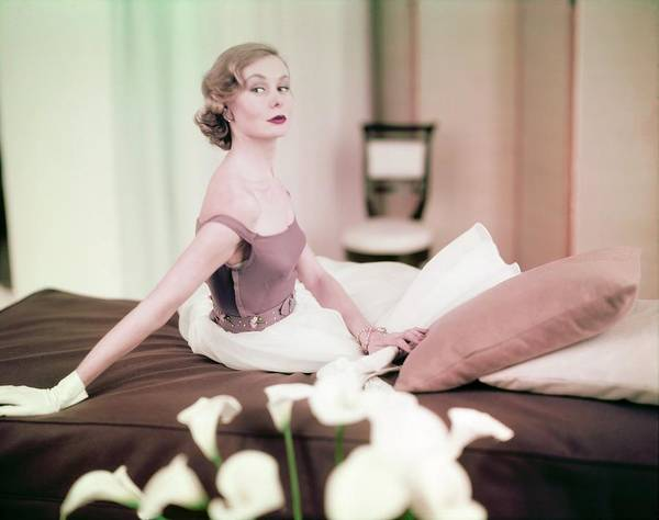 Wall Art - Photograph - Nina De Voe In Emily Wilkens by Horst P. Horst