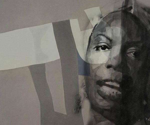 Wall Art - Mixed Media - Nina Simone _ Retro by Paul Lovering