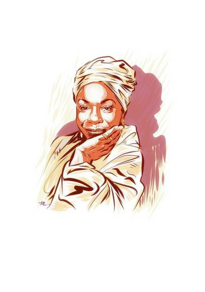 What Is Life Digital Art - Nina Simone - An Illustration By Paul Cemmick by David Richardson