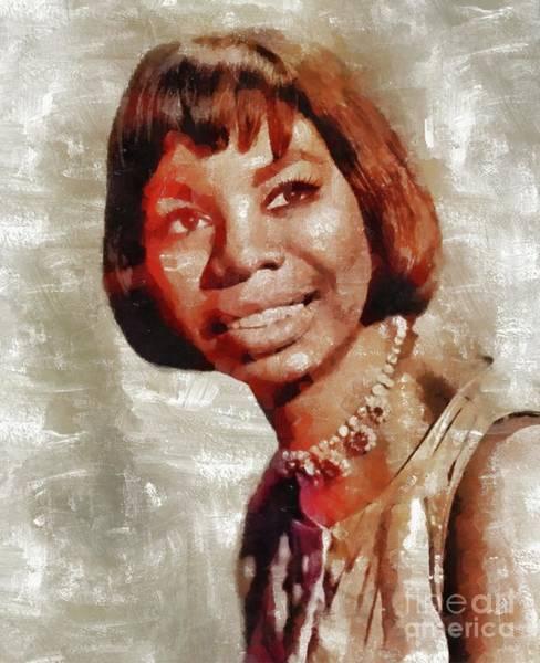 Nina Simone Wall Art - Painting - Nina Simone, Music Legend by Mary Bassett
