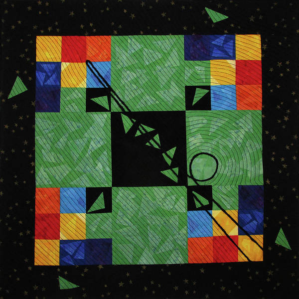 Tapestry - Textile - Nine Ball by Pam Geisel