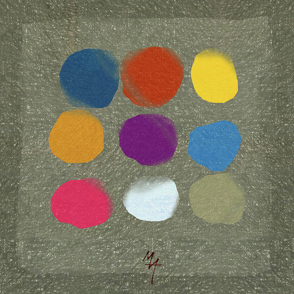 Painting - Nine Spots by Attila Meszlenyi