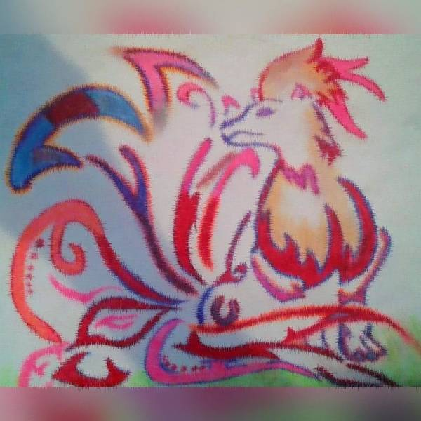 Pokemon Drawing - Ninetales by Natia Williams