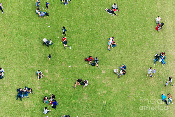 Wall Art - Photograph - Ninety Degrees View Of People Relaxing by Pisaphotography