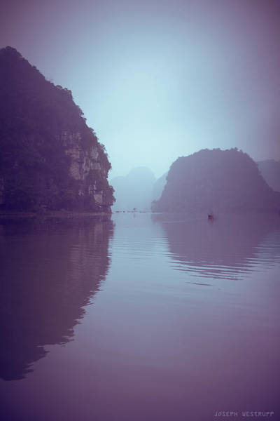 Purple Haze Photograph - Ninh Binh River by Joseph Westrupp