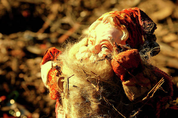 Photograph - Ninth Ward Series Number Three Ruined Santa Claus by Layne LoMaglio