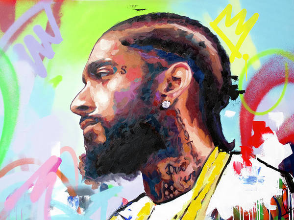 Wall Art - Painting - Nipsey Hussle by Richard Day