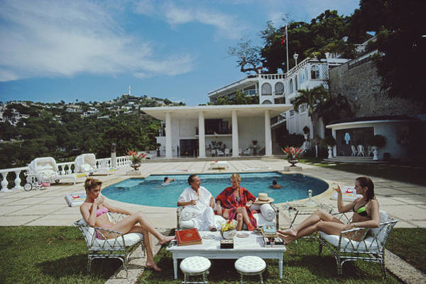 Nirvana Quartet Art Print by Slim Aarons