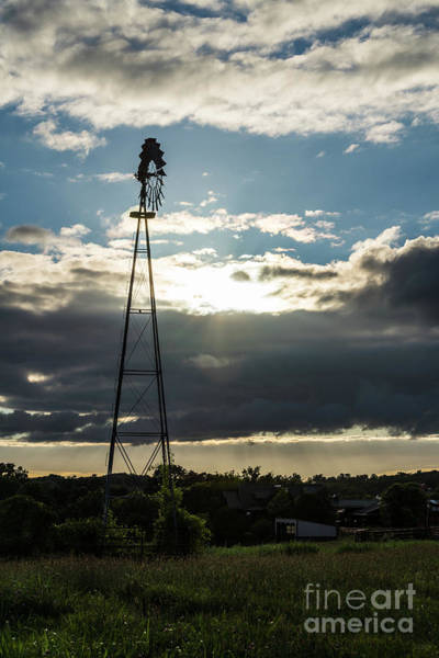 Wall Art - Photograph - Nixa Sunset Windmill by Jennifer White
