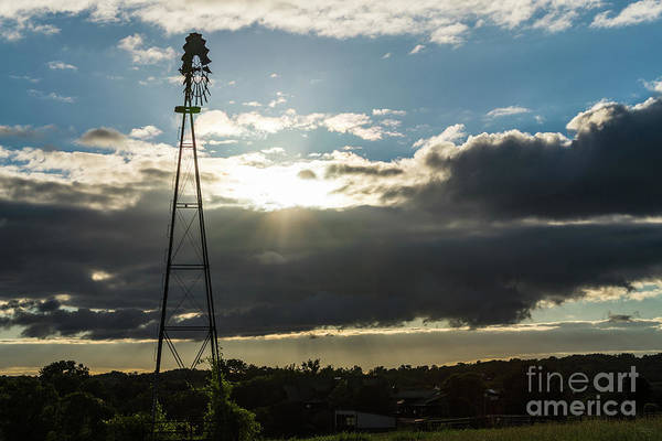 Wall Art - Photograph - Nixa Windmill Sunset by Jennifer White