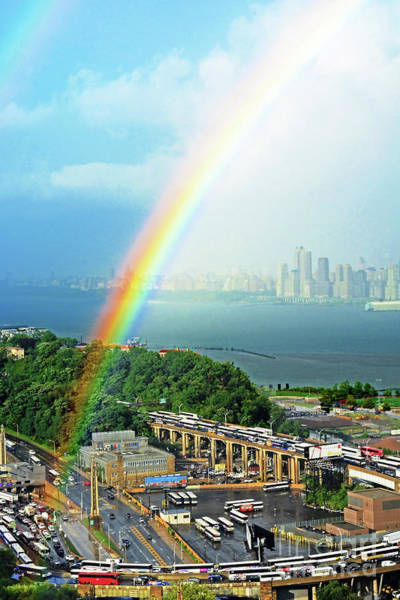 Wall Art - Photograph - Nj-hudson River Rainbow's End by Regina Geoghan