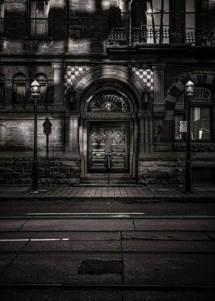Photograph - No 107 Wellington St W Toronto Canada Toned Version by Brian Carson