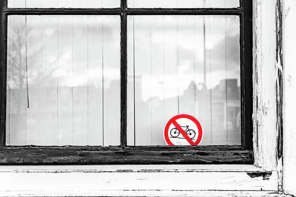 Photograph - No Bikes by Framing Places