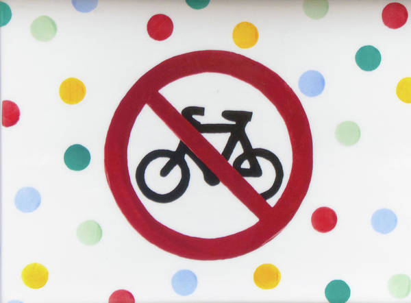 Bicyclist Wall Art - Photograph - No Cycling by Martin Newman