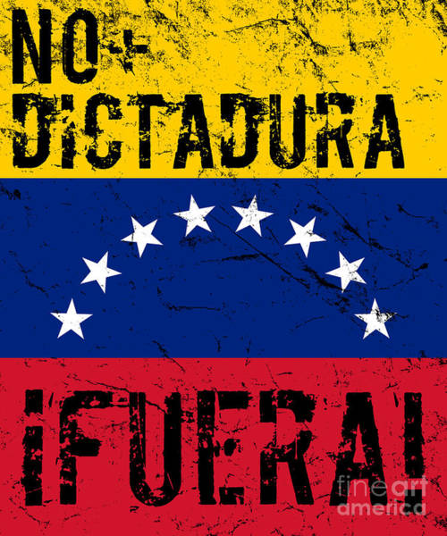 Digital Art - No Dictadura Fuera Madura Protest by Flippin Sweet Gear