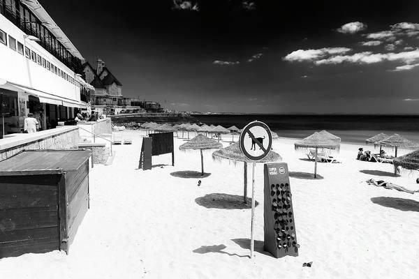 Wall Art - Photograph - No Dogs Allowed On Cascais Beach Portugal by John Rizzuto