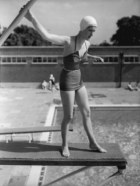 Diving Board Photograph - No Fear by S Sherman
