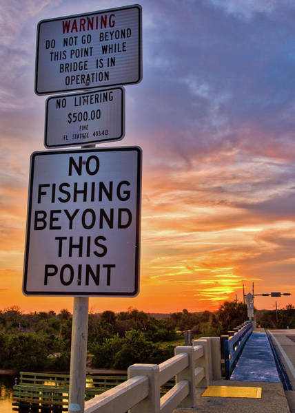 Photograph - No Fishing Sunset by Dillon Kalkhurst