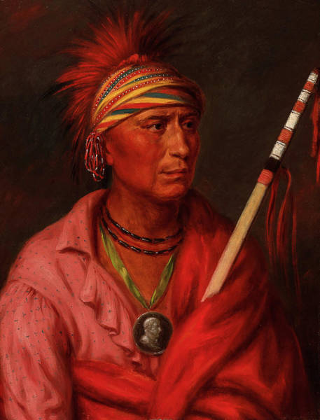 Wall Art - Painting - No Heart, Nan-che-ning-ga, 1837 by Charles Bird King