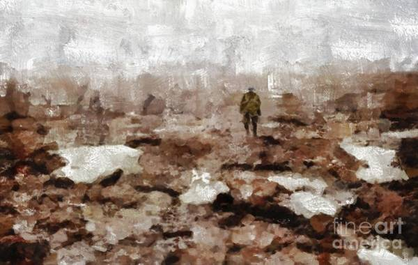 Dday Wall Art - Painting - No Mans Land, Wwi by Mary Bassett