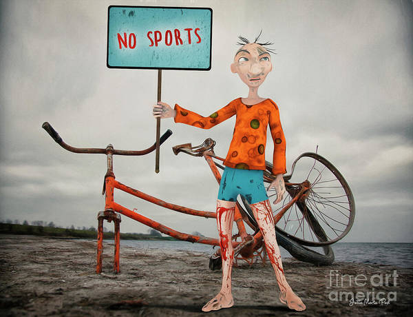 Digital Art - No Sports by Jutta Maria Pusl