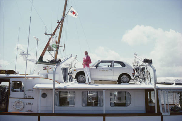 Fashion Model Photograph - No Transport Problems by Slim Aarons