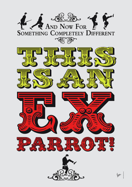 Parrot Digital Art - No01 My Silly Quote Poster by Chungkong Art