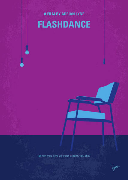 Wall Art - Digital Art - No1002 My Flashdance Minimal Movie Poster by Chungkong Art