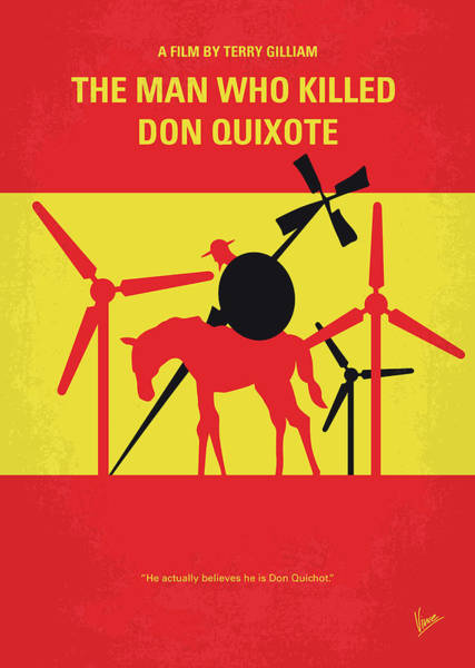 Wall Art - Digital Art - No1008 My The Man Who Killed Don Quixote Minimal Movie Poster by Chungkong Art
