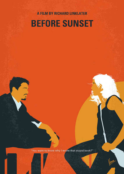 Sunrise Digital Art - No1012 My Before Sunset Minimal Movie Poster by Chungkong Art