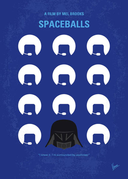 Wall Art - Digital Art - No1015 My Spaceballs Minimal Movie Poster by Chungkong Art
