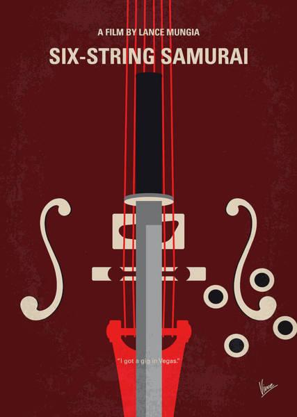 Wall Art - Digital Art - No1020 My Six-string Samurai Minimal Movie Poster by Chungkong Art